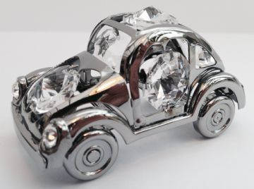 Silver Plated CAR BEETLE Crystal Temptations Sun Light Catcher